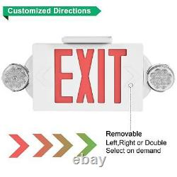 10 Pack LED Exit Sign Emergency LightHi Output Compact Combo UL listed (red)