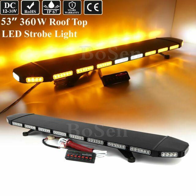 120 Led Warning Emergency With Take Down Alley Tow Truck Wrecker Strobe Light Bar