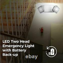 12Pack LED Emergency Lighting Exit Battery Backup Commercial Exit Sign Combo New