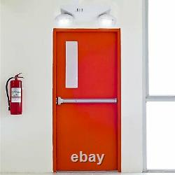 12 Pack LED Emergency Lighting Exit Battery Backup Commercial Exit Sign Combo US