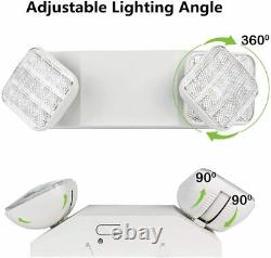 12x LED Emergency Exit Light Battery Backup&Adjustable Two Round Heads UL-Listed