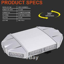 18 White Red Emergency Warning Security Strobe Light Bar For Tow Truck SUV 4WD