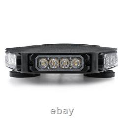 216W 72LED Emergency Beacon Light Bar Warning Truck Tow Roof Top Strobe Amber US