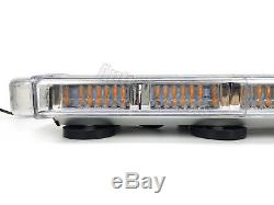21 Light Bar 56W LED Emergency Beacon Strobe TowithPlow Truck Wrecker Roof Amber