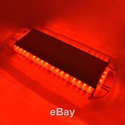 22 40LED Red Emergency Warning Beacon Roof Top Tow Truck Strobe Light Bar 40W