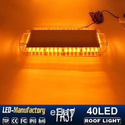 22 40 LED Strobe Light Emergency Beacon Warning Tow Truck Roof Top Yellow Amber