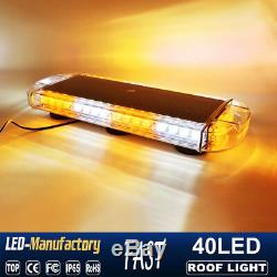 22 40 LED Strobe Lights Emergency Beacon Warning Tow Truck Roof Top Amber White