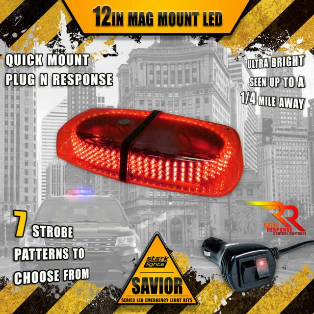 240 Led Light Bar Roof Top Warning Emergency Strobe Dual Rapid Switch Red (a)