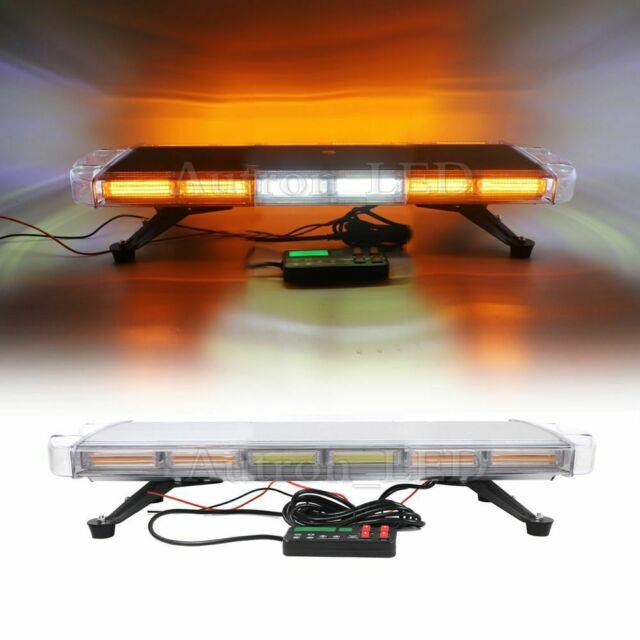 30 Amber Cob Led Emergency Warning With Take Down Alley Tow Truck Strobe Lightbar