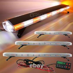 30 to 72 COB LED Amber White Flashing Strobe Roof Tow Plow Truck Light Bar