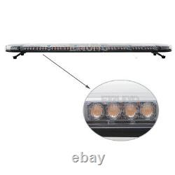 33 to 87 Amber White Car Tow Truck LED Roof Top Emergency Strobe Light Bar