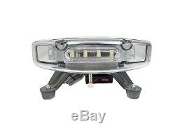 34IN Amber LED Strobe Light Bar Emergency Warning Roof Tow Truck 28 Flash Modes