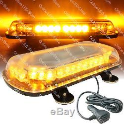 34W LED Emergency Vehicle Tow Towing Truck Strobe Warning Mini Light Bar AMBER