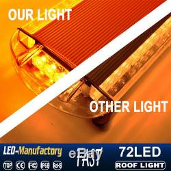 38 72 LED Strobe Light Emergency Beacon Warning Tow Truck Roof Top Amber Yellow