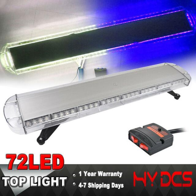 38 72 Led Strobe Lights Emergency Beacon Warning Tow Truck Roof Top Blue White