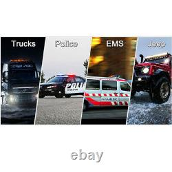 38 Amber 72 LED Emergency Warning Flash Roof Top Strobe Light Bar Tow Truck US