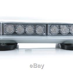 40LED Car 22 Emergency Warning Solid Roof Plow Tow Strobe Light Bar Amber US