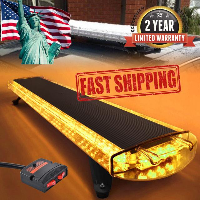 47amber 88led Emergency Warning Beacon Tow Truck Strobe Light Bar Roof Top Cool