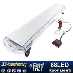47 88 LED Strobe Lights Emergency Beacon Warning Tow Truck Roof Top Amber White