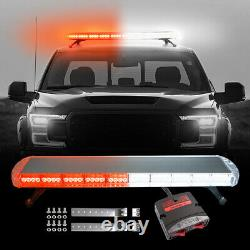 48 88 LED Roof Emergency Strobe Light Bar Warning Tow Truck Top Response Red