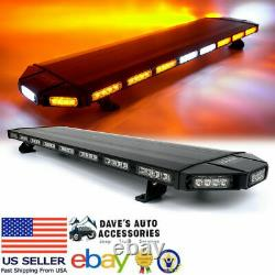 48 Amber/Yellow LED Roof-Top Emergency Warning Light With Controller Fast Ship