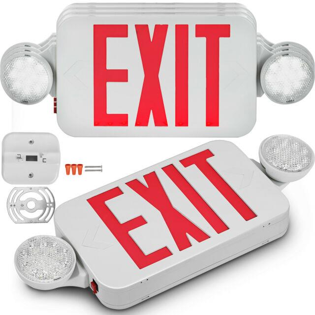4 Pack Emergency Lights Red Exit Sign Withdual Led Lamp Abs Supermarkets Red Exit
