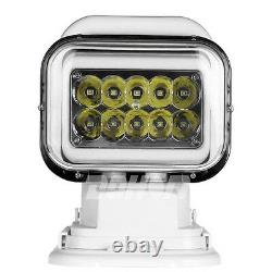 50W LED 360° Remote Control Search Light Magnetic Rotative Security Emergency