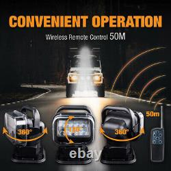 50W LED Search Light 360° Rotating Remote Control Work Light Security Emergency