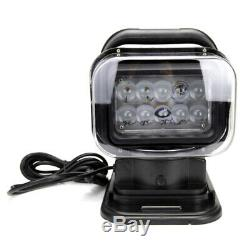 50W Remote Control CREE LED Search Light 6000K Spot Beam SUV Boat Emergency Lamp