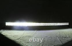 50 Curved Offroad Led Light Bar White/Red Blue/Strobe Emergency Warning Remote