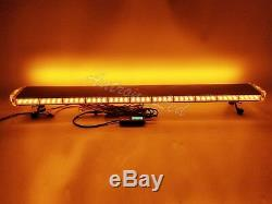 50 Inch LED Amber Emergency Beacon Warn Strobe Rooftop TowithPlow Truck Light Bar