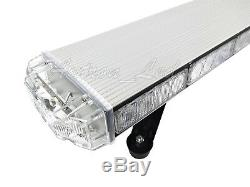 50 Inch LED Amber White Emergency Beacon Warning Strobe TowithPlow Truck Light Bar