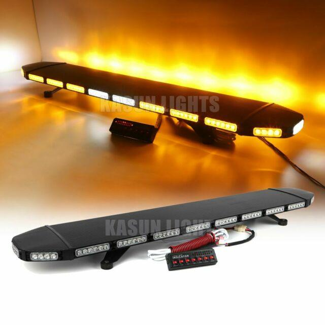 53 120 Led Emergency Beacon Light Bar Warning With Take Down Alley Strobe Amber