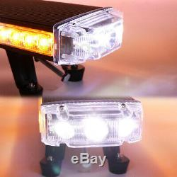 55 LED Roof Top Warning Strobe Light Bar TOW Plow Truck With BRAKE TURN Lights