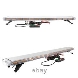 59 28 COB LED Amber Strobe Light Bar Emergency Warning Flash Tow Truck Roof Top