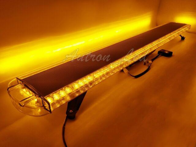 63 120w Amber Led Warn Emergency Beacon Strobe Light Bar Roof Tow Truck Yellow
