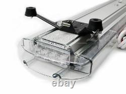 68 128W Amber LED Emergency Beacon Warning Strobe TowithPlow Truck Roof Light Bar