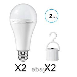 6 PACK 9W LED Bulb Energy Saving Rechargeable Intelligent Lamp Emergency Lights