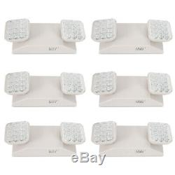 6 Pack Commercial Emergency LED Exit Light Waterproof Fixture With Battery Backup