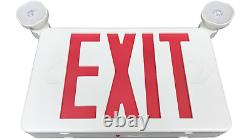6 Pack Red LED Exit Sign, UL-Listed Emergency Light Dual LED Lamp ABS Fire