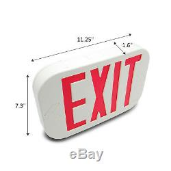 6 Pack Red Letter LED Exit Emergency Sign Light with Battery Back-up NEW US