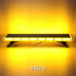 72 LED Amber 38 Roof Top Strobe Light Emergency Beacon Warning Tow Truck Lamp