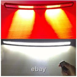 7-52 inch Dual Color White Red Remote LED Light Bar Driving Emergency Warning