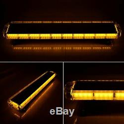 88 AMBER YELLOW LED Emergency Warning Strobe Lights Bar 47 Inch For Tow Truck