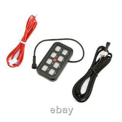 8 Gang Led Light Bar On-Off Switch Panel Electronic Relay Circuit Control System