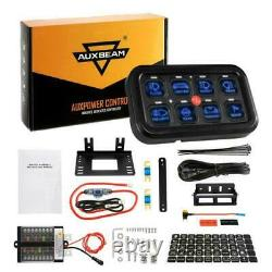 8 Gang Switch Panel LED Work Lights Bar Electronic Relay System For Jeep Marine