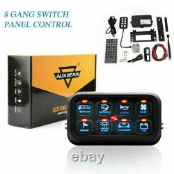 8-Gang Switch Panel Relay Circuit Control System For LED Work Light Bar Pods Set