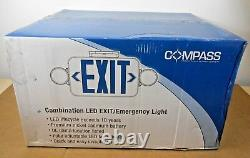 Case Of 6 Nib Hubbell Ccr Combo Led Exit/emergency Light (2 Available)