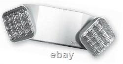Ciata Lighting LED White Two Head Emergency Light with Battery Backup 6 Pack