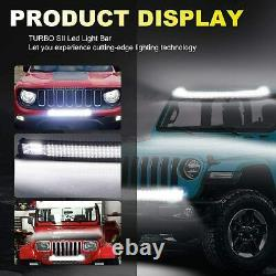 For 2004-2014 Ford F150 Roof 52inch Curved LED Light Bar Tri-Row 5D 4'' Pods Kit